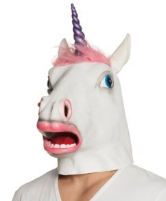 Masque en Latex - Licorne