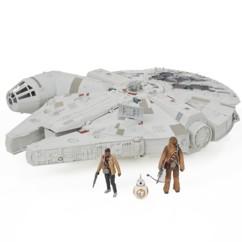 jouet star wars millenium falcon géant avec figurines chewbacca finn bb8 nerf