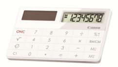 mini calculatrice compacte solaire canon x mark i blanc