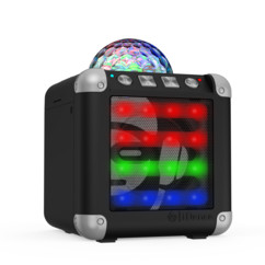 Mini enceinte sans fil disco Cube Mini CM-3 - Noir