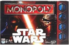 monopoly edition speciale star wars avec plateau rond et pions peints Kylo Ren Dark Vador Darth Vader Luke Skywalker Finn