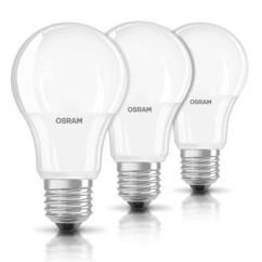 pack de 3 led OSram 9w equivalent 60w longue durée couleur blanc chaud