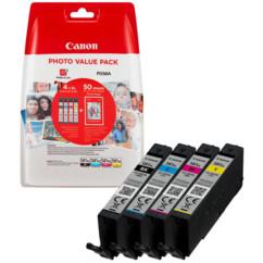 Pack de cartouches originales Canon CLI-581 taille XL.