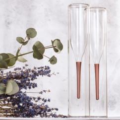 verres a double paroi design flutes de champagne deco de table originale