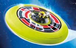 jouet playmobil 6183 sports & action spationaute dans soucoupe frisbee à lancer
