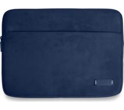 pochette velours et cuir pour macbook et notebook 13 14 port milano bleu