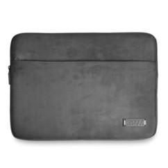 pochette velours et cuir pour macbook et notebook 13 14 port milano gris