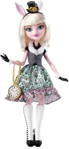 poupée ever after high bunny blanc fille lapin blanc