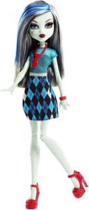 poupee monster high frankie stein avec tartan et cravate rouge fille frankenstein