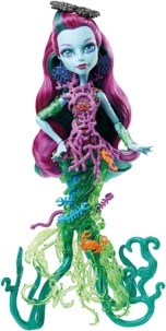 poupée monster high great scarrier reef posea reef fille poseidon