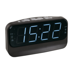 Radio-réveil à grand affichage ClipSonic AR316 - Noir