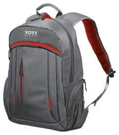 sac a dos avec poche pour ordinateur portable 15 et tablette 10 couleur rouge gris port design megeve
