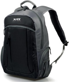 sac a dos avec poche pour ordinateur portable 15 et tablette 10 couleur noir gris port design valmorel