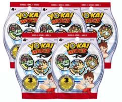 Sachets de 3 médailles Yo-Kai Watch - x5