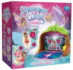 jouet fille shimmer wing fairies porte magique avec fée à décorer stickers