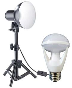 spot photo pour photographes amateurs pro et vidéastes youtubeurs avec ampoule 10w 5400k blanc naturel