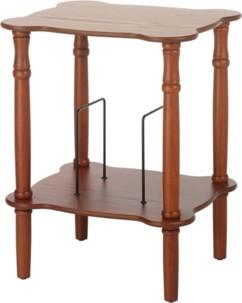 table support en bois de chene style retro moulures pour gramophone ricatech rmc350