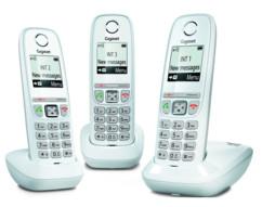 Téléphone fixe sans fil DECT Gigaset AS470 Trio - Blanc