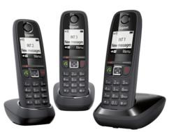 Téléphone fixe sans fil DECT Gigaset AS470 Trio - Noir