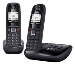 Téléphone fixe sans fil DECT Gigaset AS470A Duo - Avec répondeur - Noir