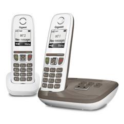 Téléphone fixe sans fil DECT Gigaset AS470A Duo - Avec répondeur - Taupe