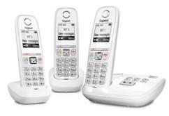 Téléphone fixe sans fil DECT Gigaset AS470A Trio - Avec répondeur - Blanc
