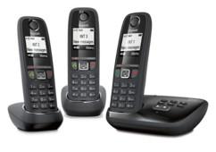 Téléphone fixe sans fil DECT Gigaset AS470A Trio - Avec répondeur - Noir