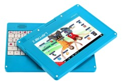 mini tablette tactile educative pour enfants avec clavier detachable lexibook laptab2