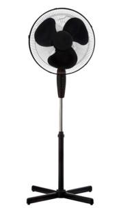 ventilateur sur pied red line hauteur reglable 3 vitesses oscillation couleur noir