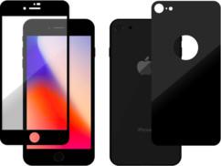 pack de protections écrans + dos en verre ultra resistant quasiment invisible pour iphone 8 et iphone 10