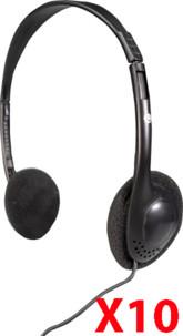 10 casques audio filaires LX-911