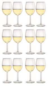 12 verres à vin 350 ml