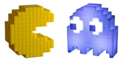 2 Lampes LED d'ambiance Pac-Man