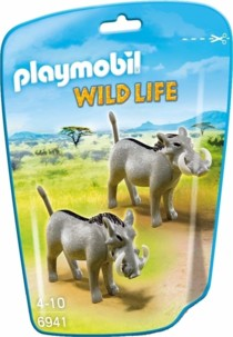 Playmobil Le Zoo Wild Life N°6941 deux phacochères.