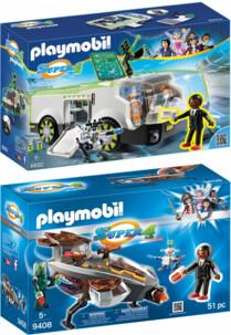 2 véhicules Playmobil Super 4 avec Gene