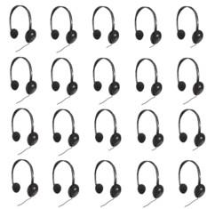 Lot de 20 casques audio filaires LX-911 par Skyfield.