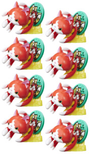 8 figurines Jibanyan support pour médaillon