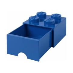 Tiroir LEGO bleu pour ranger des petits objets.