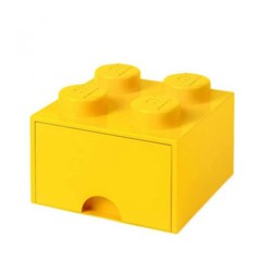 Brique de rangement LEGO jaune.
