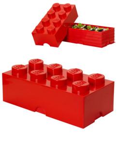 Brique de rangement Lego 8 plots (12 litres) - Rouge
