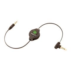 Câble auxiliaire rétractable avec microphone pour autoradio