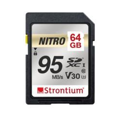 Carte SDXC Strontium Nitro U1 de 64 Go.