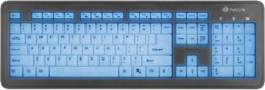 clavier usb touches blanches silencieuses retroeclairage bleu led ngs bluelagoon