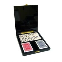 Coffret Prestige avec dominos et cartes à jouer