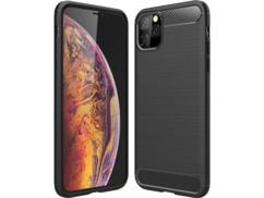 Coque souple noire nervurée pour iPhone 11 Pro