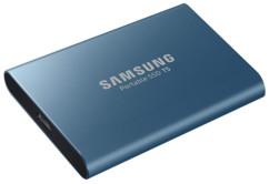 disque ssd externe mobile 500go samsung ssd t5 bleu usb type c 3.1
