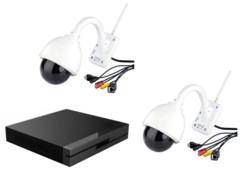 Lot de 2 caméras IPC-440.HD avec 1 enregistreur de vidéo Full HD par 7Links.