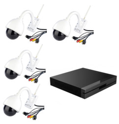 Lot de 4 caméras IPC-440.HD avec 1 enregistreur vidéo Full HD par 7Links.