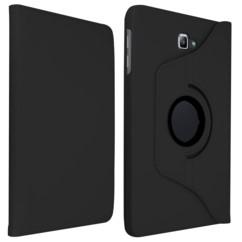 etui de protection pour samsung galaxy tab a 10 pouces couleur noir mat avec support rotatif akashi
