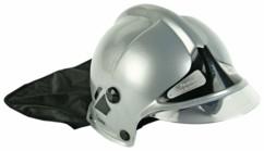 faux casque de pompier brillant pour carnaval et soiree costumée